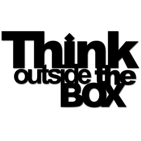 Napis ścienny THINK OUTSIDE THE BOX